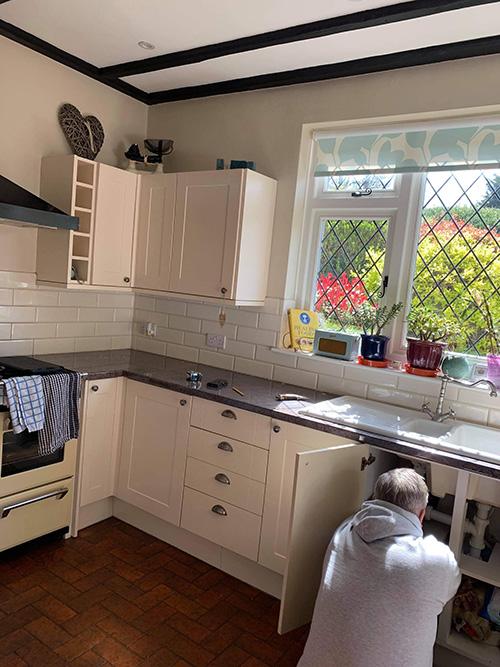 New oak kitchen worktop 1