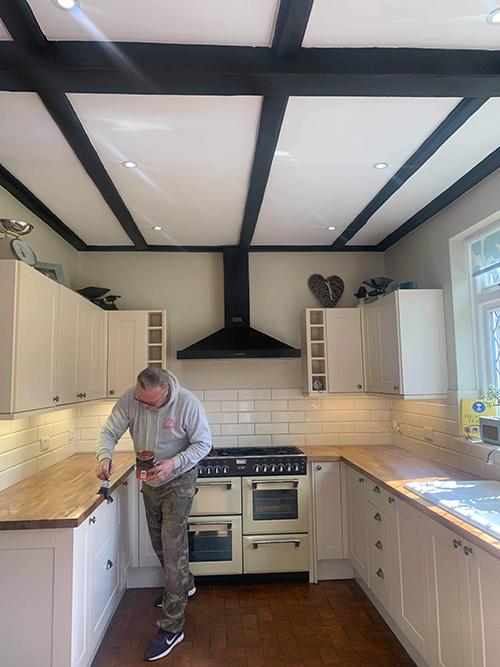 New oak kitchen worktop 3