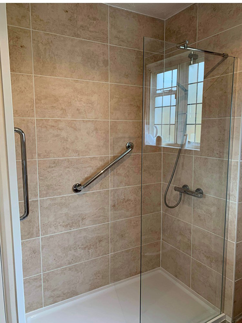 bath removal and install of walk in shower
